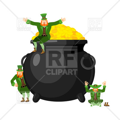400x400 Leprechauns And Pot Of Gold Vector Image Vector Artwork Of