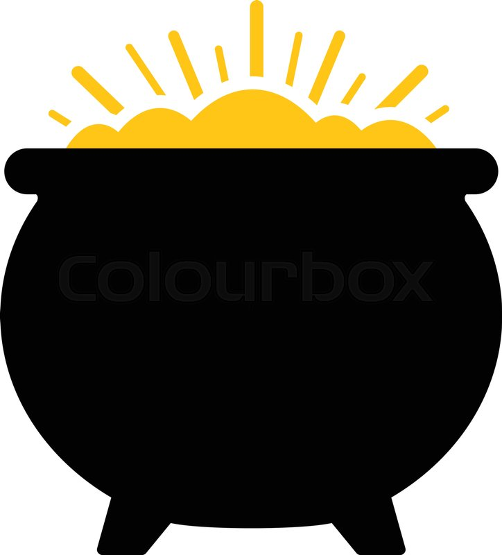 724x800 Pot Of Gold Vector Icon Stock Vector Colourbox