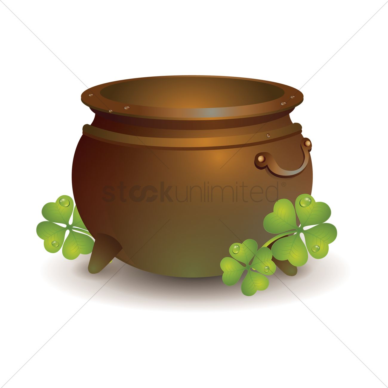 1300x1300 Pot Of Gold Vector Image