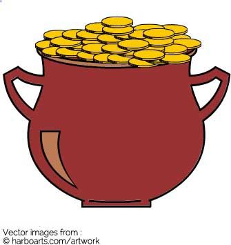 335x355 Download St. Patrick Pot Of Gold Vector Graphic