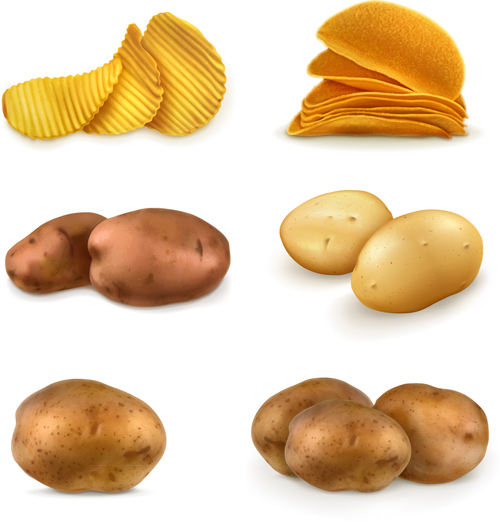 500x521 Potatoes And Potato Chips Vector Graphics Free Download