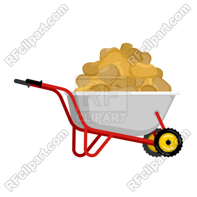 400x400 Wheelbarrow And Potato Vector Image Vector Artwork Of Food And