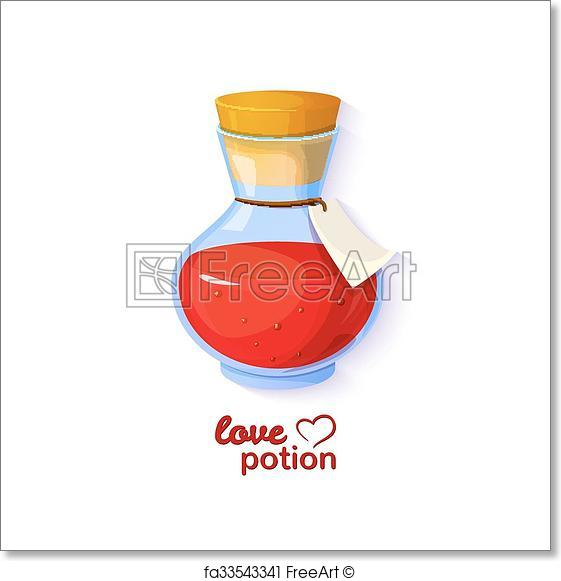 561x581 Free Art Print Of Love Potion, Vector Illustration. Love Potion