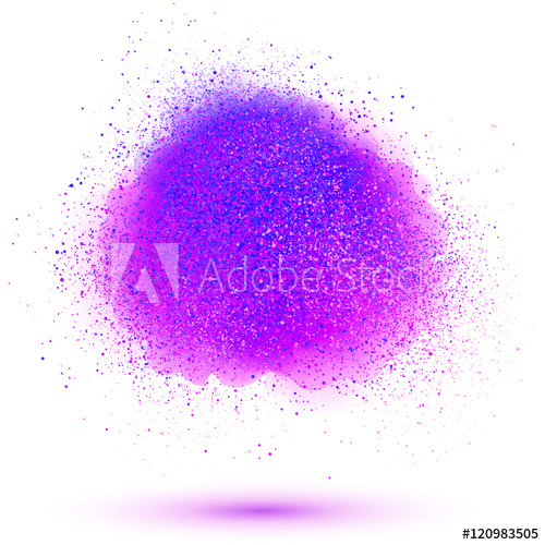 500x500 Paint Powder Vector Cloud Isolated On White Background