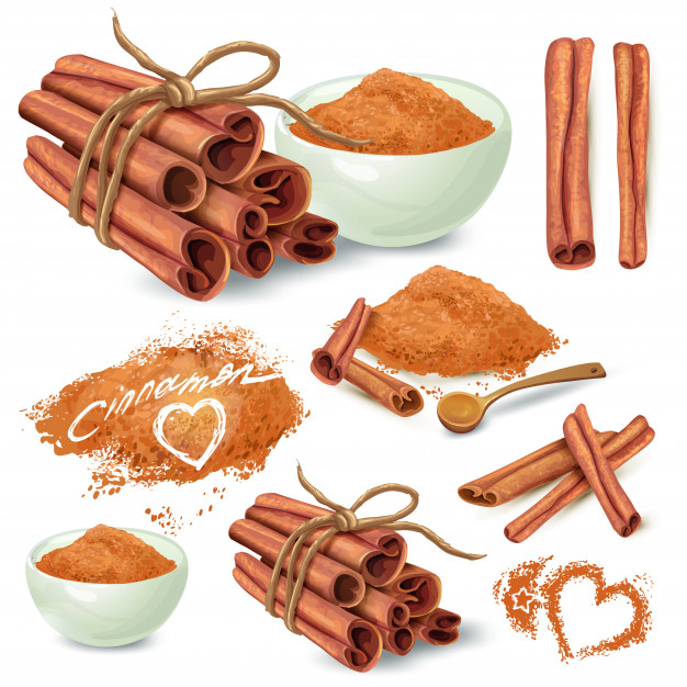 626x626 Cinnamon Sticks And Powder Vector Collection Vector Free Download