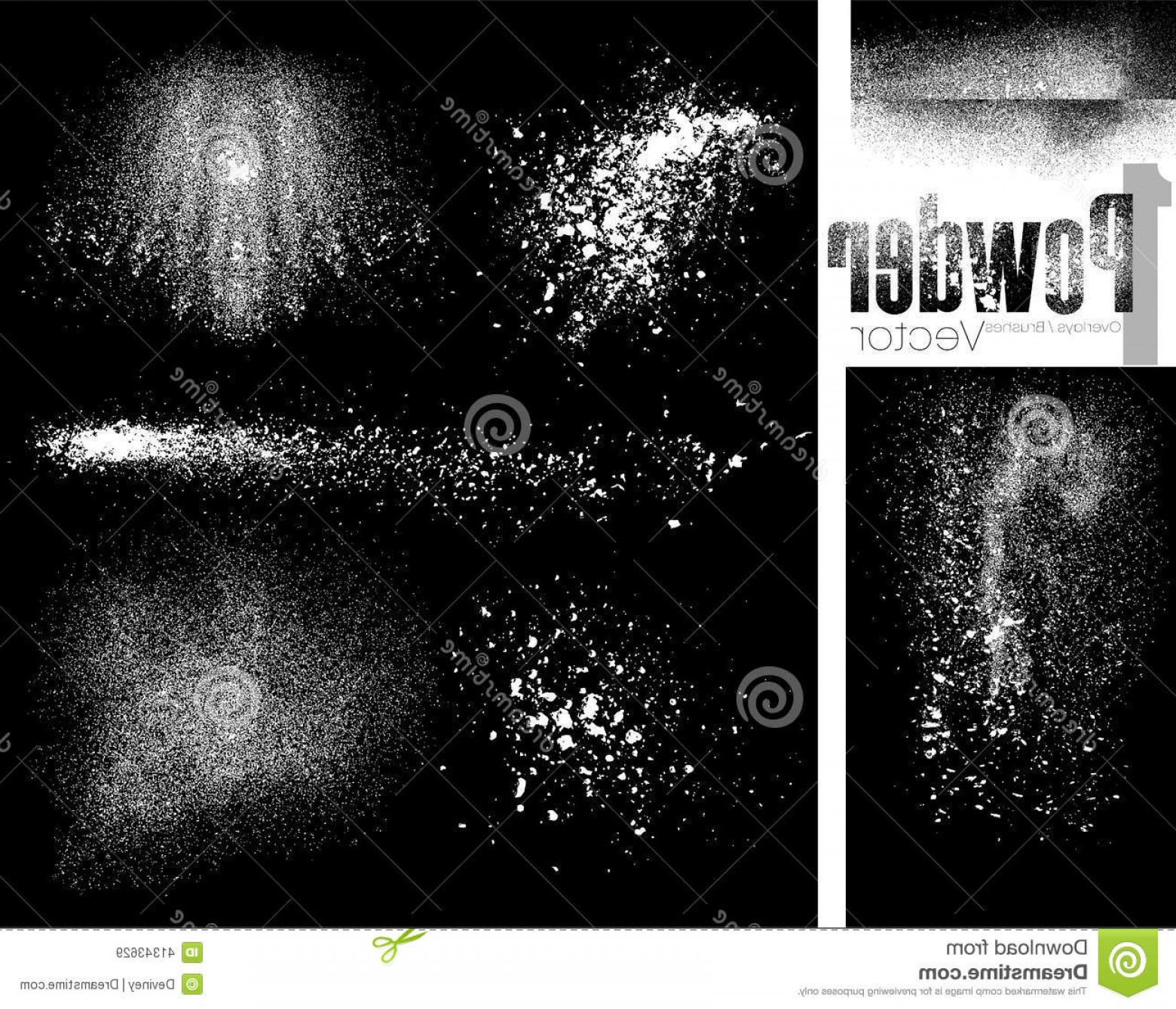 1560x1339 Stock Illustration Powder Vector Brushes Overlays Flour Format