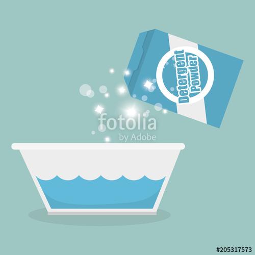 500x500 Detergent Powder Box Laundry Service Vector Illustration Design