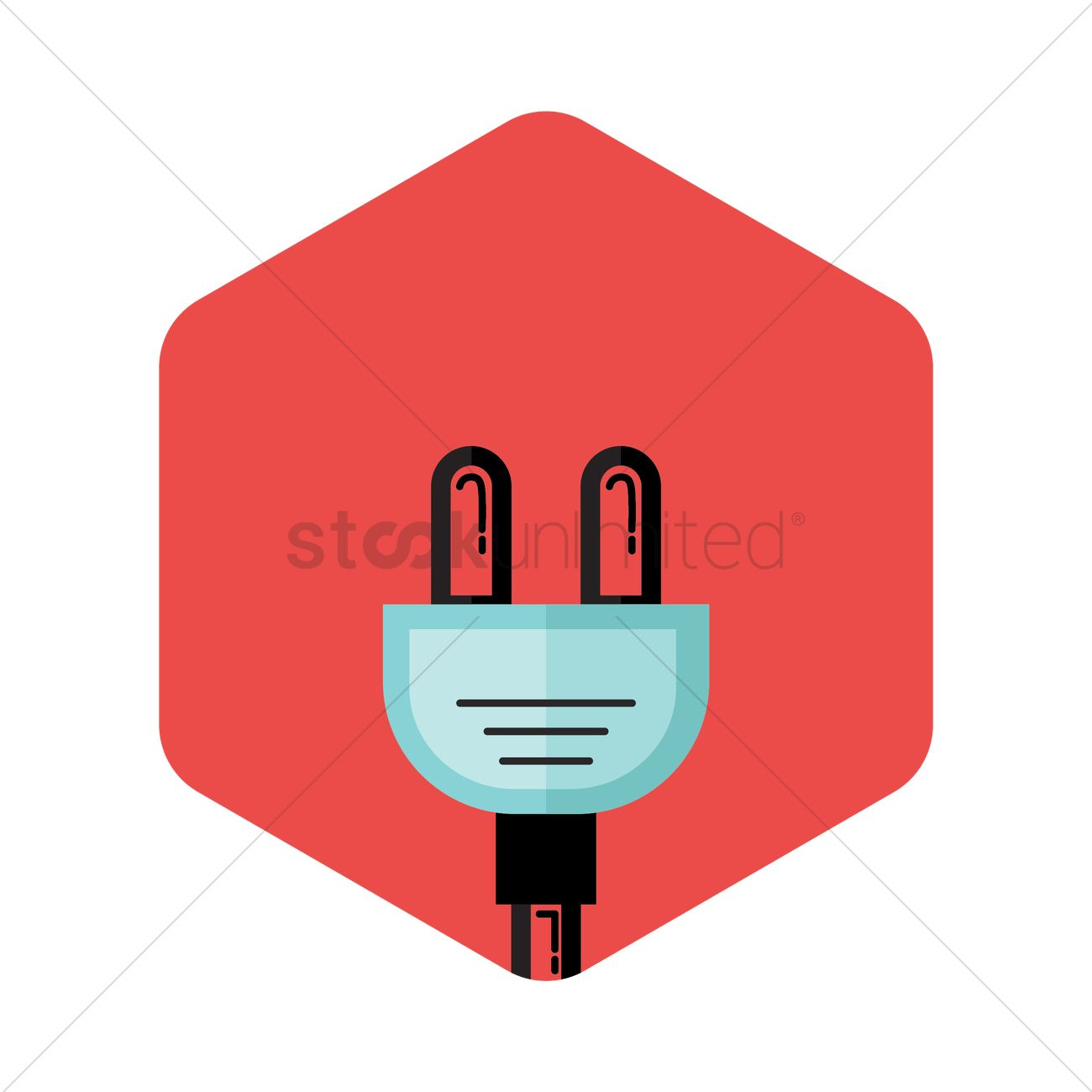 1300x1300 Free Power Plug And Cable Cord Vector Image