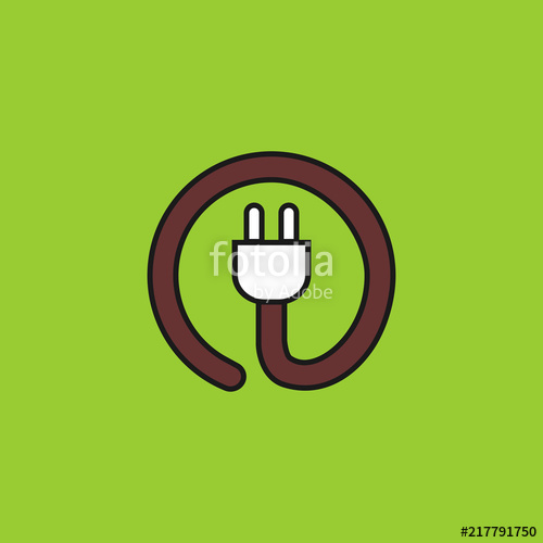 500x500 Power Cord Vector Icon Stock Image And Royalty Free Vector Files