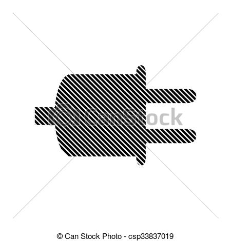 450x470 Power Cord Sign. Power Cord Sign On White Background. Vector