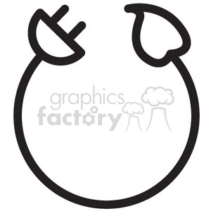 300x300 Royalty Free Electric Power Cord Vector Icon 398551 Icon