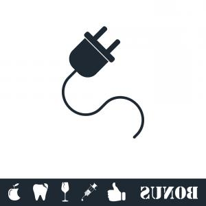 300x300 Stock Illustration Electric Extension Cord Socket And Lazttweet