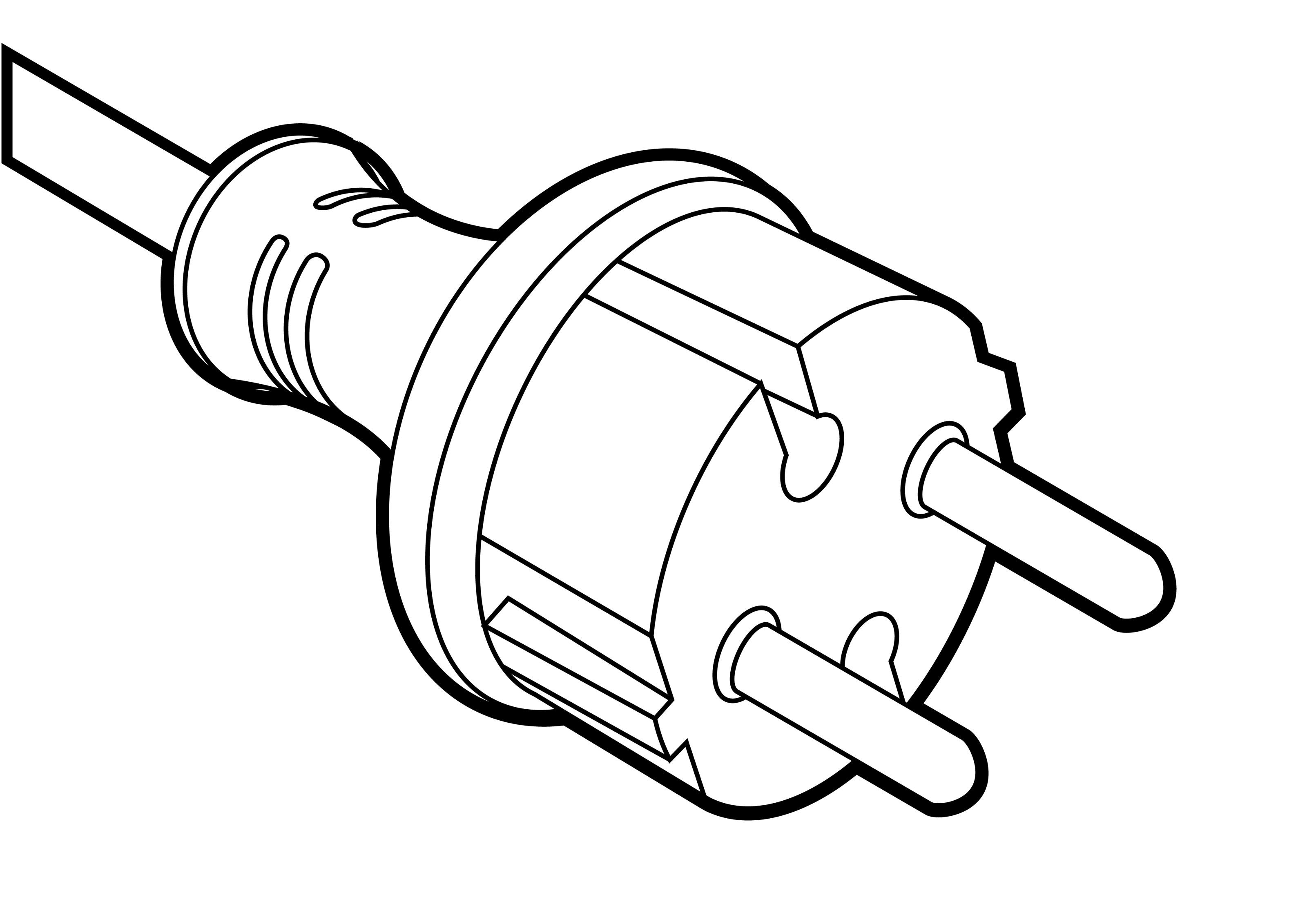 3200x2263 Power Cord Outline Vector Illustration