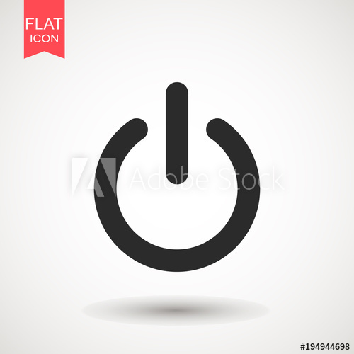 500x500 Power Icon Vector Illustration On The White Background. Power