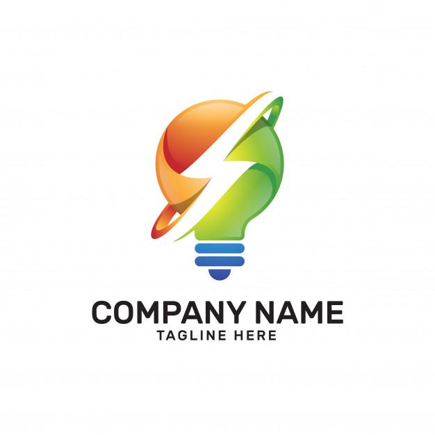 626x626 Idea Light Bulb Thunder Power Logo Vector Premium Download