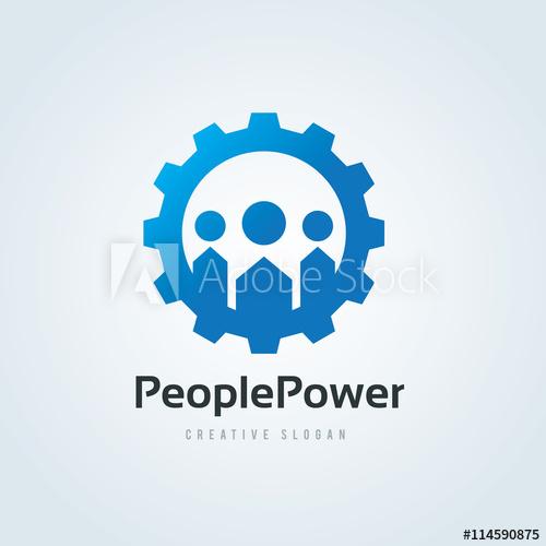 500x500 People Power Logo,people Logo,gear Logo,people Gear Logo,vector