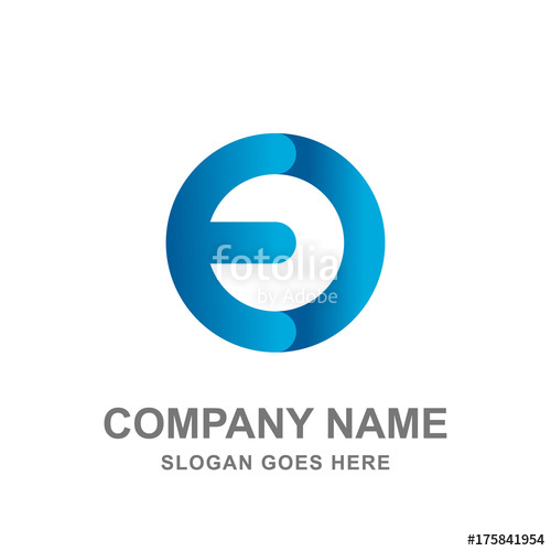 500x500 Round E And O Letter Technology Power Logo Vector Icon Stock
