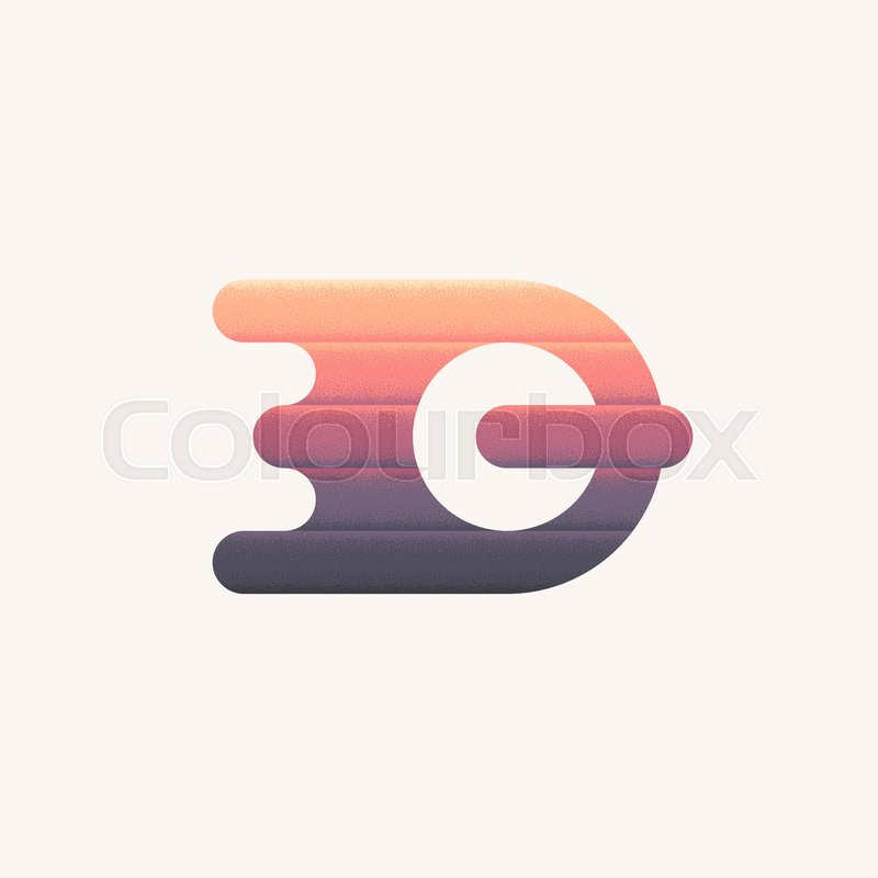 800x800 Color Modern Abstract Symbol, Isolated Vector Symbol Q, Dynamic