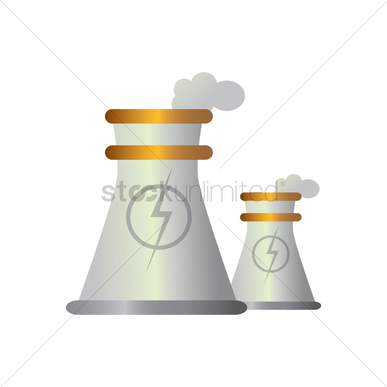 1300x1300 Nuclear Power Plant Vector Image