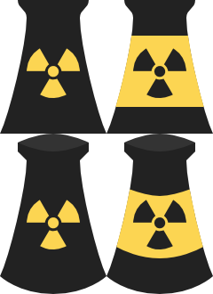 240x330 Vector Nuclear Power Plant Icons