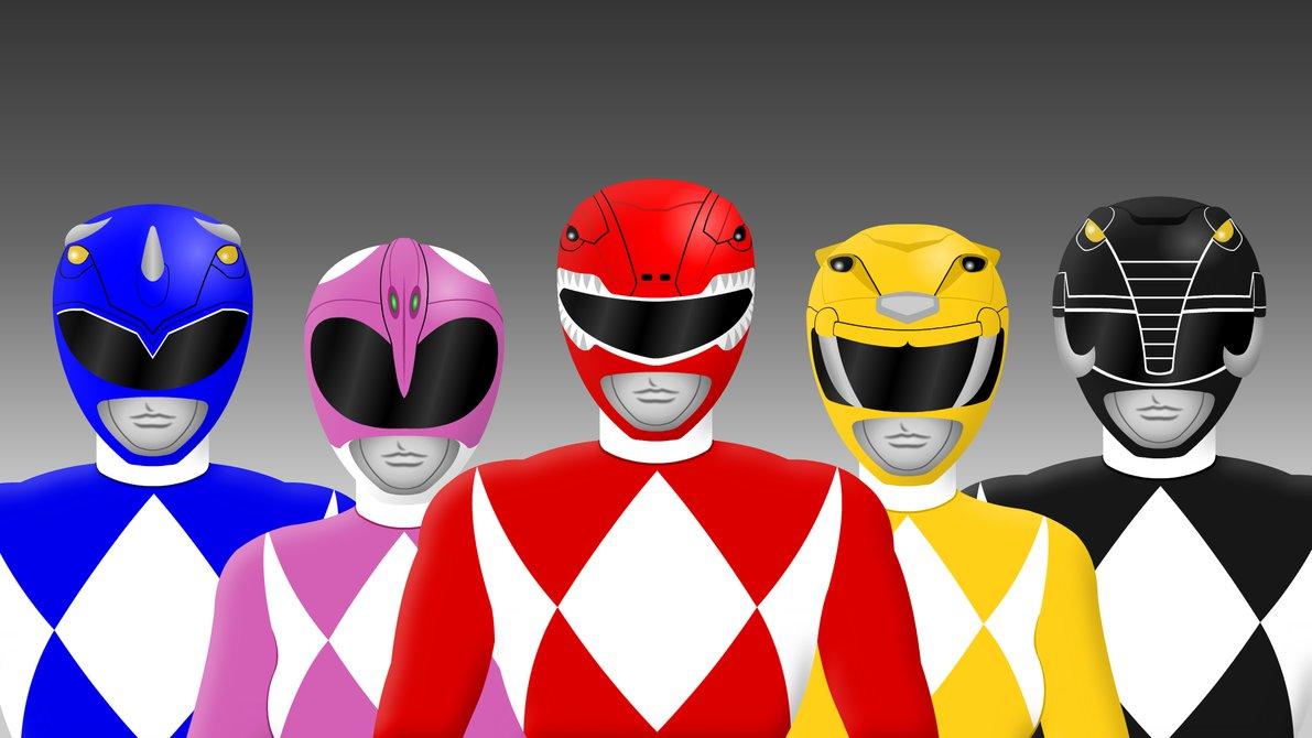 1191x670 Classic Mighty Morphin Power Rangers By Yurtigo