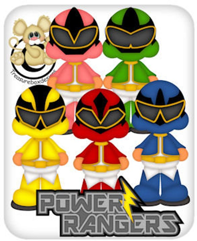 642x784 Power Ranger Collection Vector Graphics Digital Clipart Etsy