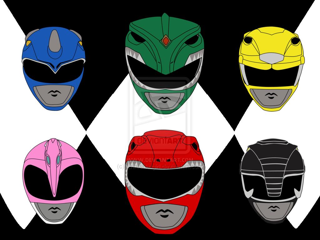 1024x768 19 Vector Helmet Mighty Morphin Power Rangers Huge Freebie