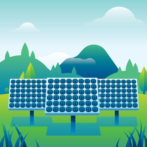 490x490 Solar Cell Power Plant Free Vector