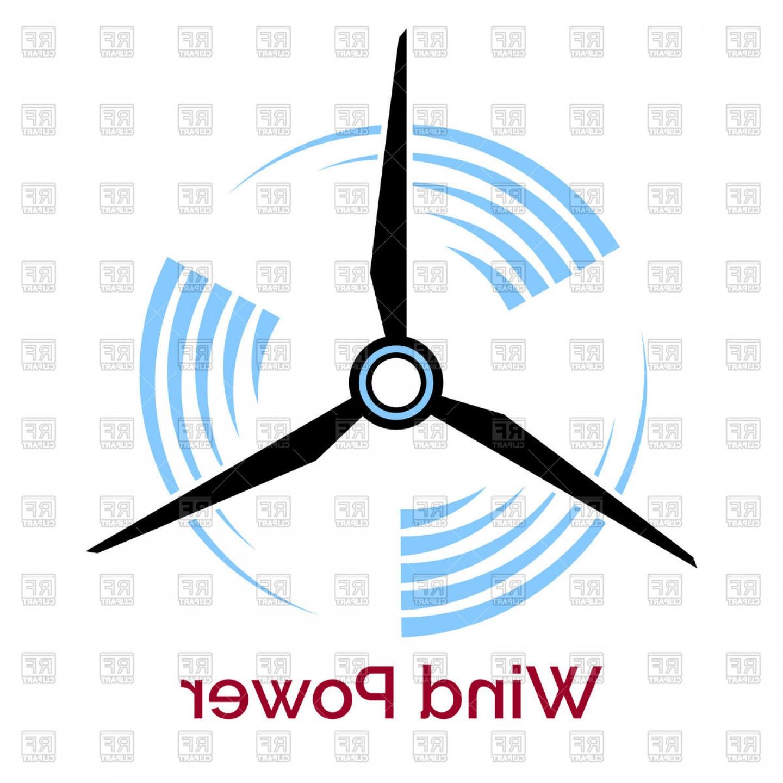 1440x1440 Company Logo With Wind Turbine And Slogan Wind Power Vector