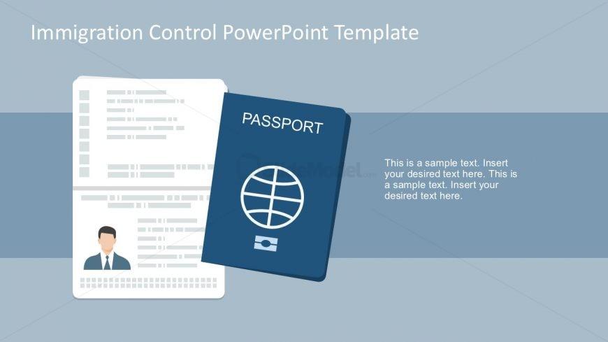 870x489 Passport Vector Powerpoint Slides