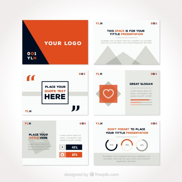 626x626 Stylish Powerpoint Presentation Vector Free Download