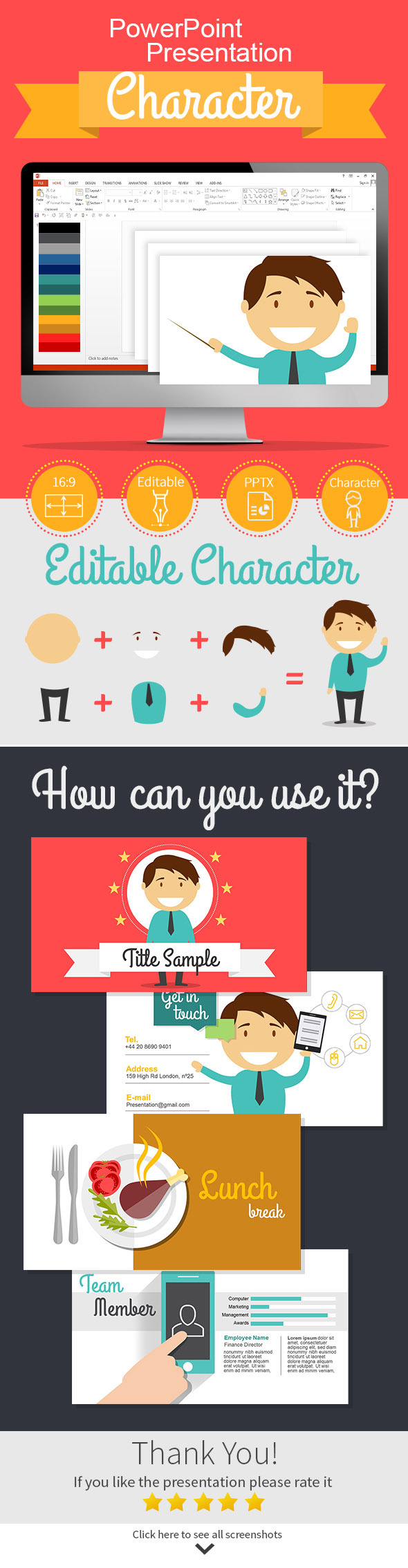 590x2268 Vector Character Powerpoint Presentation By Clewdesign Graphicriver