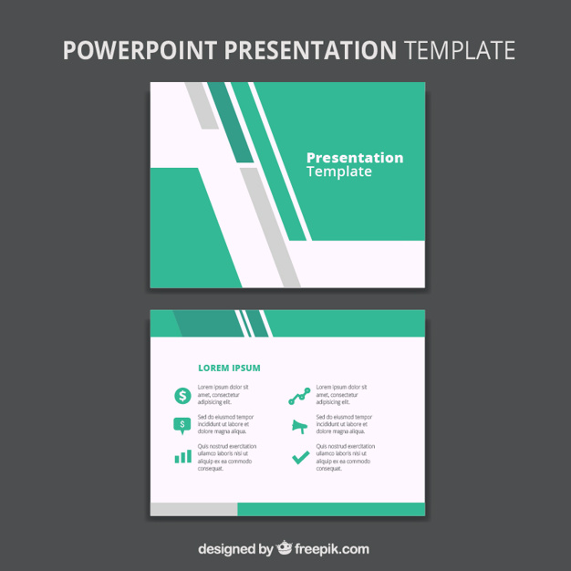 626x626 Abstract Business Powerpoint Template Vector Free Download