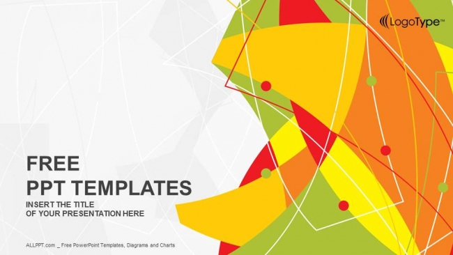 650x366 Abstract Line Vector Powerpoint Templates