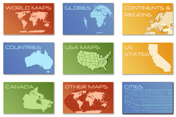 580x386 Free Download Digital Vector Maps For Powerpoint Presentations
