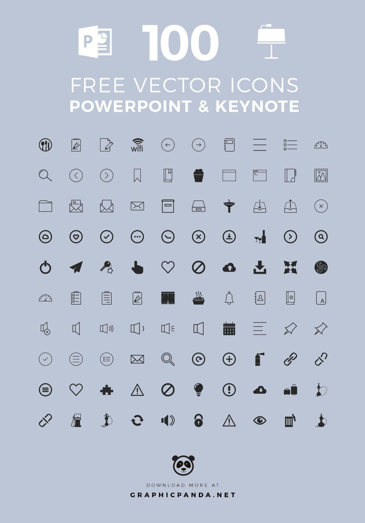 1400x2005 100 Free Vector Icons For Your Presentation In Powerpoint And