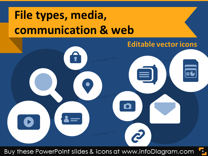 800x600 It Icons Document Type Report Media Chat Hyperlink Share Ppt Clipart