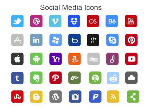 500x375 Powerpoint Vector Icon Pack For Social Media Icons Powerpoint