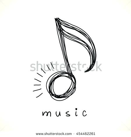 450x470 Vector Icon Music Note Doodle Logo Stock Royalty Free Powerpoint