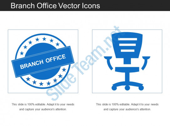 543x403 Branch Office Vector Icons Powerpoint Shapes Powerpoint Slide