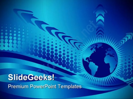 543x403 Vector Globe Abstract Powerpoint Templates And Powerpoint