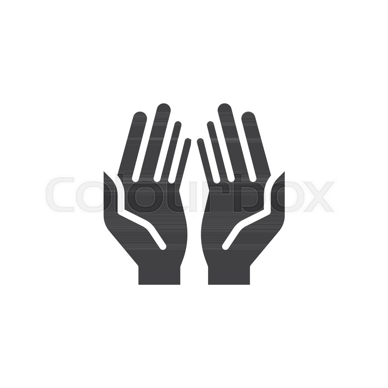 800x800 Prayer Hands Vector Icon. Filled Flat Sign For Mobile Concept And
