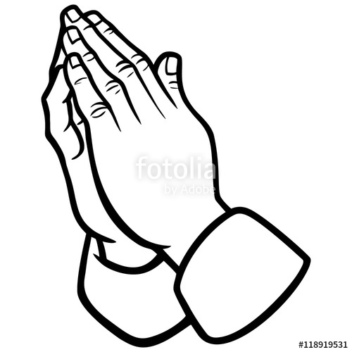500x500 Praying Hands Illustration Stock Image And Royalty Free Vector