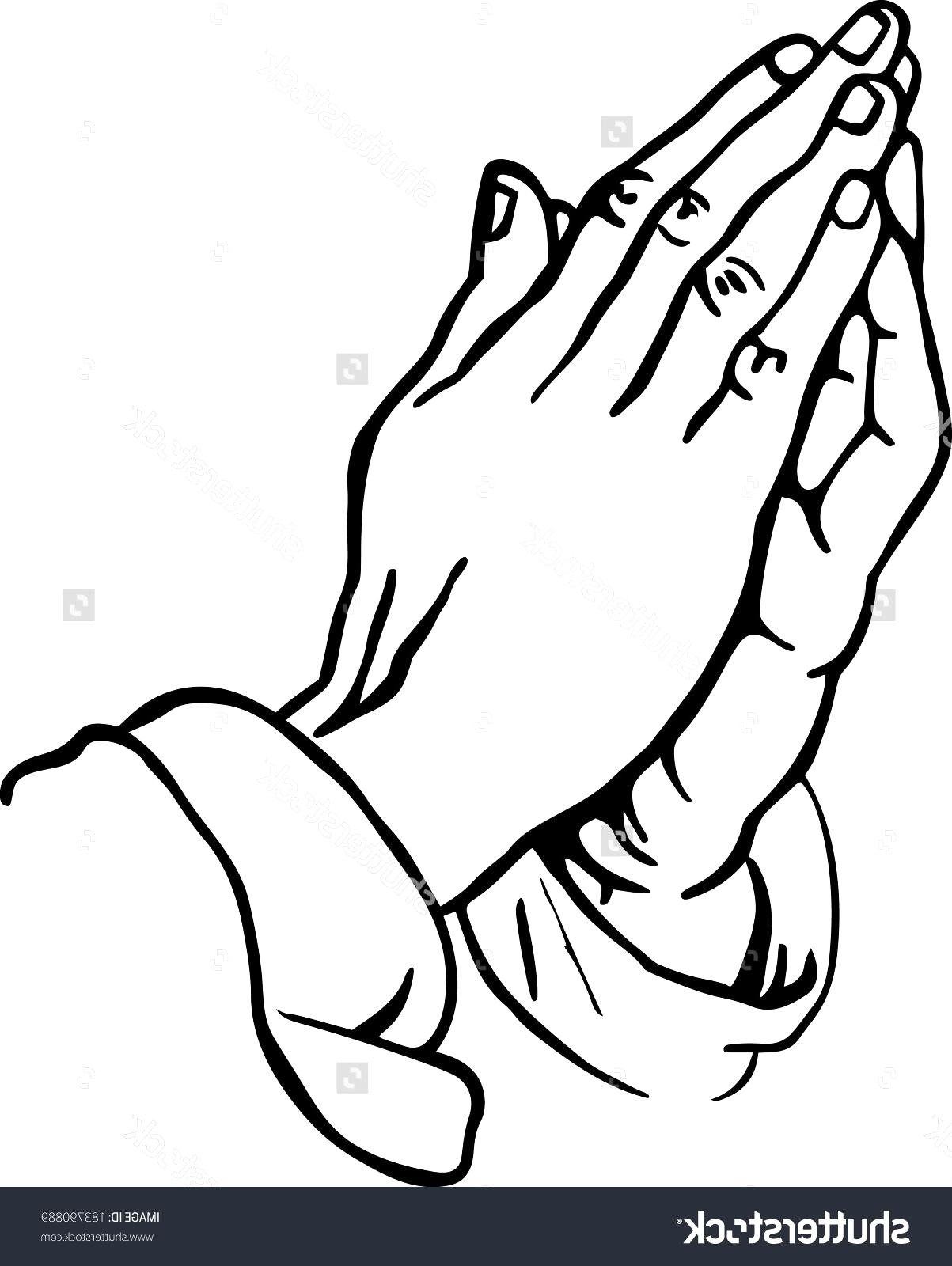 1203x1600 Praying Hands Line Drawing Unique Vector Free Art 15