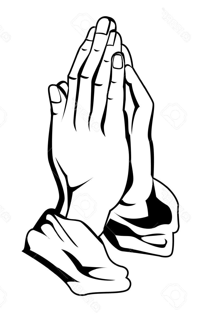 816x1300 Praying Hands Vector