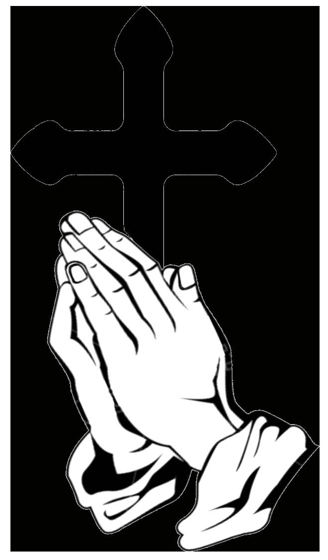 660x1125 Cross Praying Hands Vector