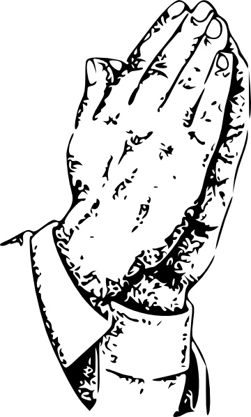 360x598 Praying Hands Clip Art Free Vector In Open Office Drawing Svg