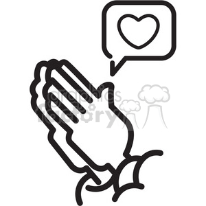 300x300 Royalty Free Social Media Praying Hands For Likes Vector Icon