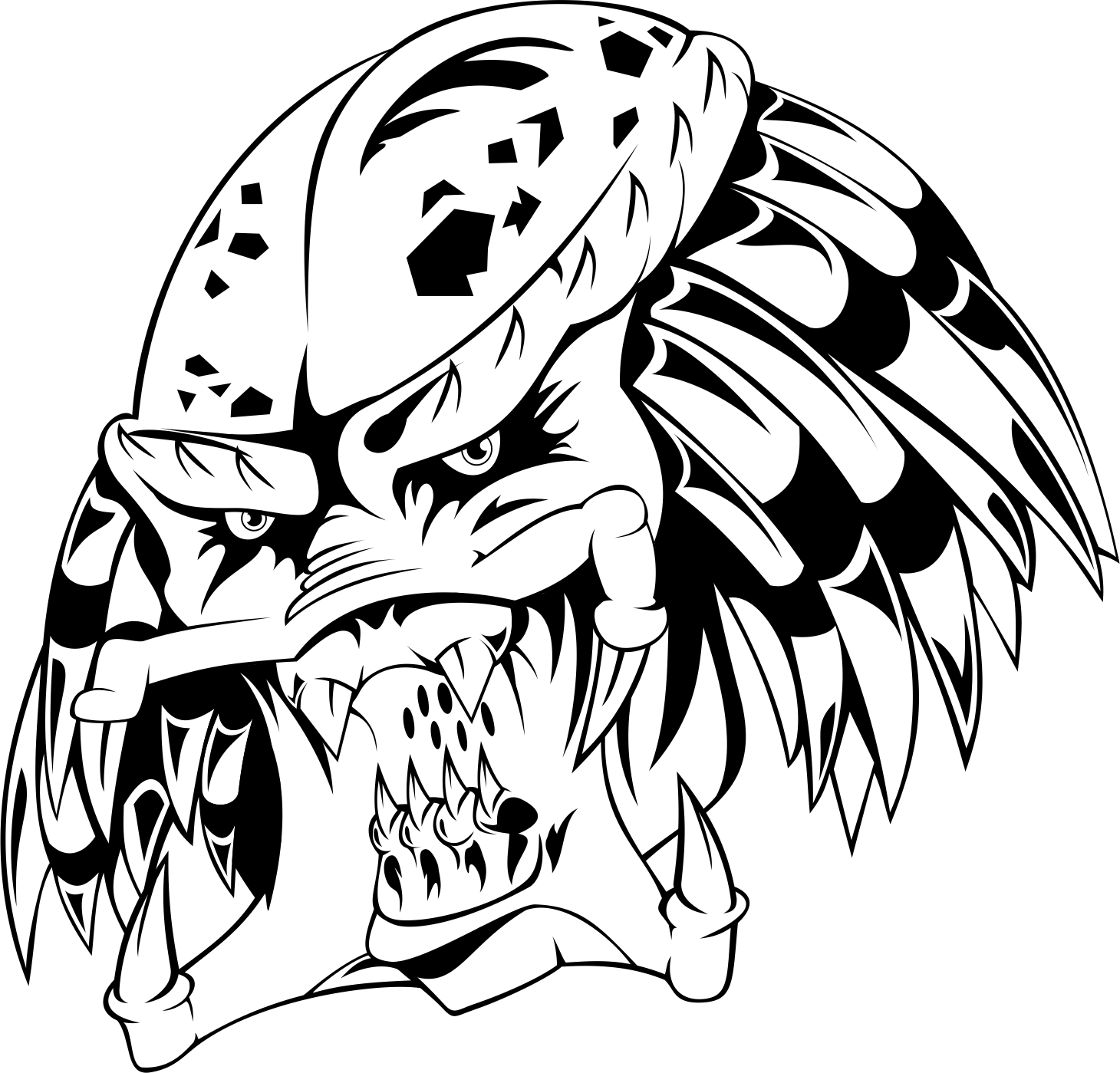 1460x1399 collection of free predator drawing logo download on ubisafe