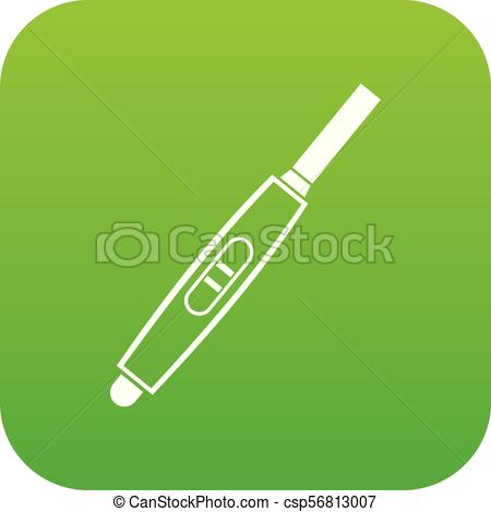 450x470 Pregnancy Test With Positive Pregnant Icon Digital Green For Any